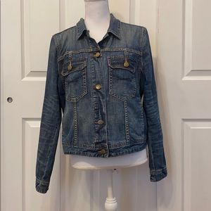 Dark Wash Denim Jean Jacket Gap Large